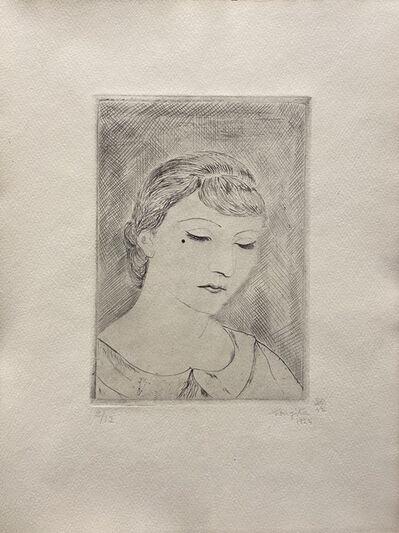 Léonard Tsugouharu Foujita 藤田 嗣治, 'Jeune Femme Timide - Portrait de Youki', 1925