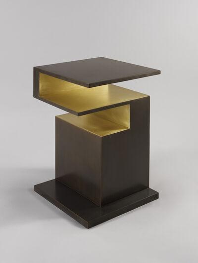 Studio MVW, ''XiangSheng II' Side Table in Bronze with an Intense Brown Patina by Studio MVW', 2017