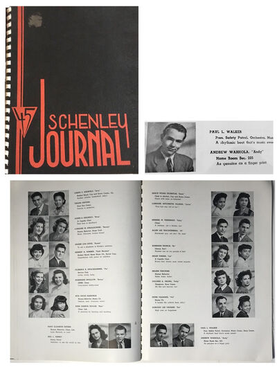 "Andy Warhol, '""Schenley Journal-45"", Schenley Senior High School Yearbook Pittsburg, First Edition.', 1945"