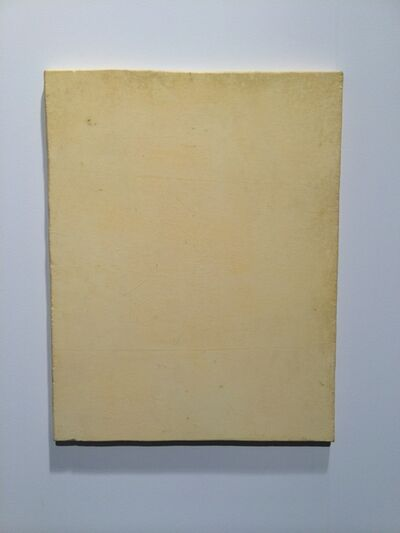 Lawrence Carroll, 'Untitled (Yellow Painting)', 2013-2015