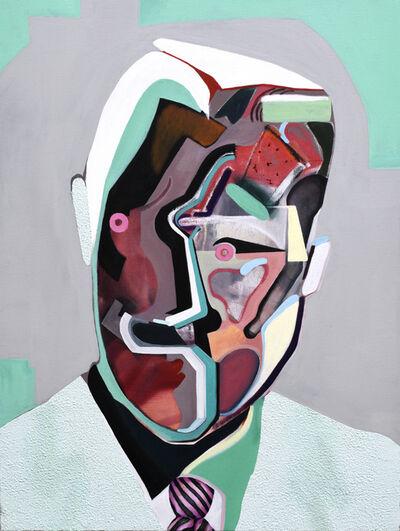 "Wyatt Mills, '""Guy With A Grin"" (green)', 2018"