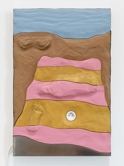Neïl Beloufa, 'Pink and Yellow towel', 2019
