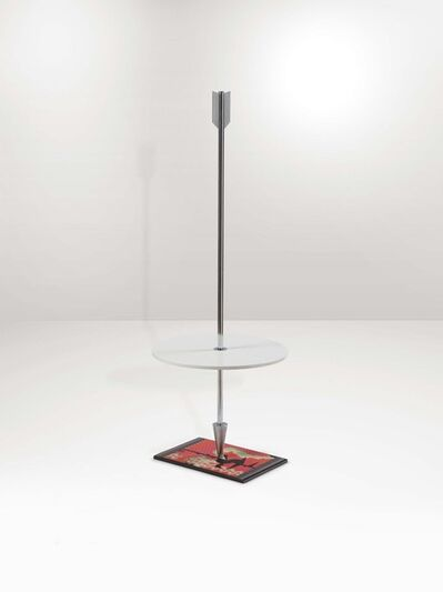 Alessandro Mendini, 'A Freccia table stand with a metal and wood structure', 1980 ca.