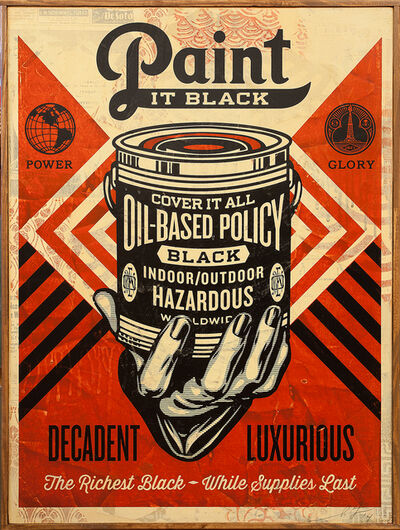 Shepard Fairey, 'Paint It Black (Hand)', 2014