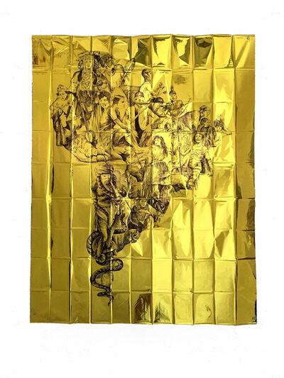 Pietro Ruffo, 'Gold Migration, South America', 2020