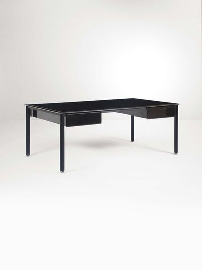 Luigi Caccia Dominioni, 'A lacquered steel and wooden desk', 1970 ca.