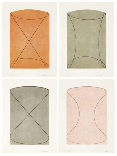 Robert Mangold (b.1937), 'Four Figures', 1998