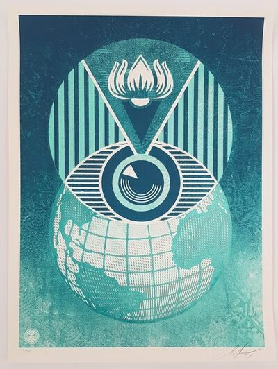 Shepard Fairey, 'Flint Eye Alert Globe', 2009