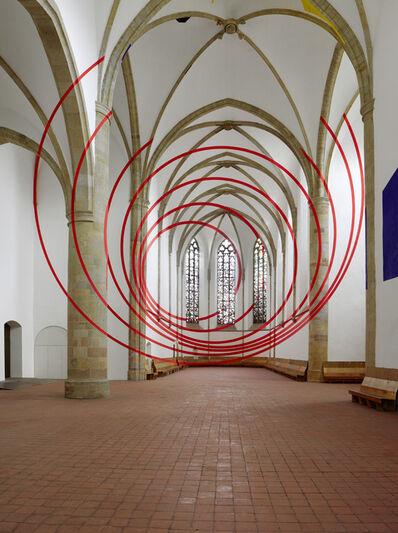 Felice Varini, 'Baile de arcos y circulos.', 2017