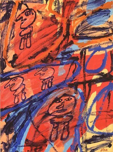 Jean Dubuffet, 'Site Avec 4 Personnages ', 1981