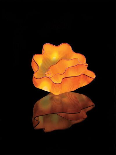 Dale Chihuly, 'Saffron Seaform Pair Studio Edition ', 2013