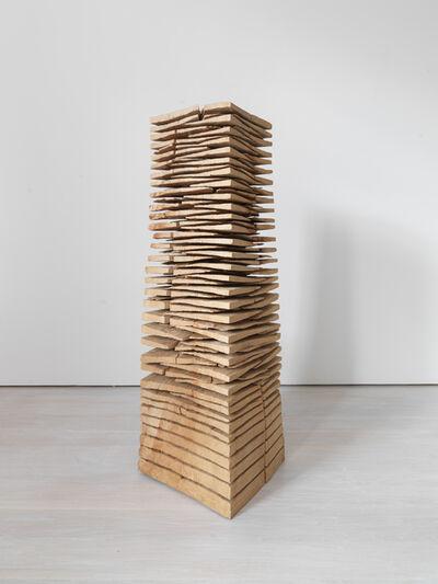David Nash, 'Wedge Stack: Crack and Warp', 2014