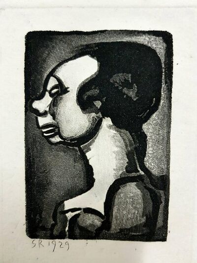 "Georges Rouault, 'Original Etching ""Ubu the King"" by Georges Rouault', 1955"