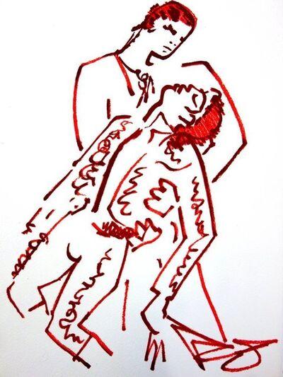 """Jean Cocteau, 'Original Lithograph """"Lovers"""" by Jean Cocteau', 1965"""