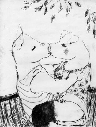 Elena Tejada-Herrera, 'Two pigs kissing', 2018