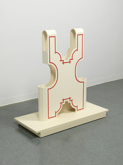 Diane Simpson, 'Vest - red/gray', 2008