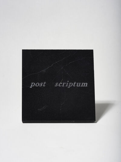 Mirella Bentivoglio, 'Post Scriptum', 1985