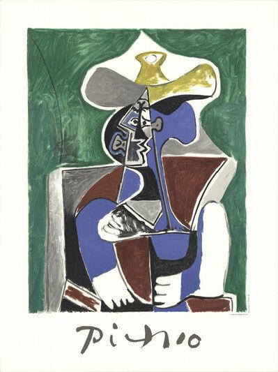 Pablo Picasso, 'Buste Au Chapeau Jaune Et Gris', 1982