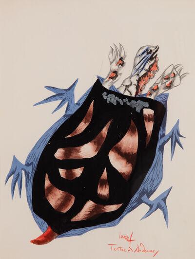 "Jean Lurçat, '""Tortue des Ardennes,"" Original drawing for the book ""Géographie animale,"" André Gonin, Lausanne 1948', 1948"