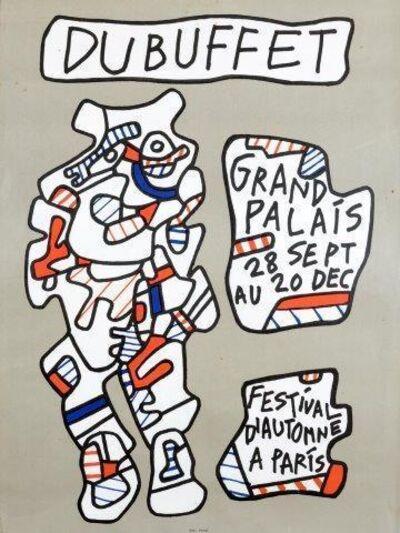 Jean Dubuffet, 'Affiche lithographique du Grand Palais'