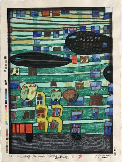 Friedensreich Hundertwasser, 'Song of the Whales', 1979
