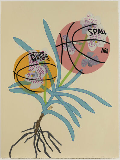 Jonas Wood, 'Double Basketball Orchid 2 (State I)', 2020