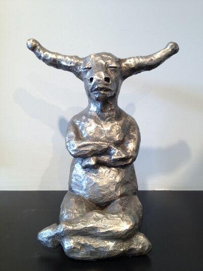 Giuseppe Palumbo, 'Little Bull Sit (Silver Patina) '