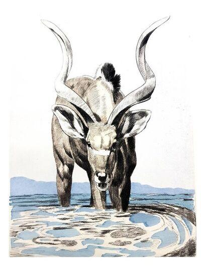 """Paul Jouve, 'Original Etching """"Antelope"""" by Paul Jouve', 1950"""