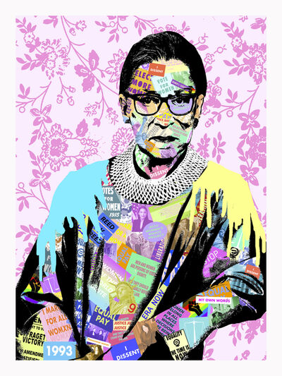 Amy Smith, 'RGB- Contemporary Collage Portrait of Ruth Bader Ginsberg Supreme Court Judge', 2020