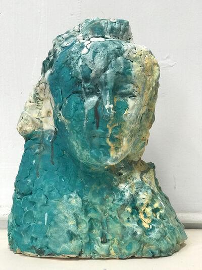 Wanxin Zhang, 'Blue Buddha's Head', 2018