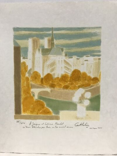 Bernard Cathelin, 'Paris view of Notre - Dame from Cathelin's studio', 1991
