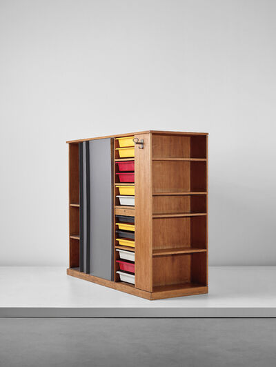 Le Corbusier, 'Double wardrobe and room divider, from a 'chambre d'étudiant', Maison du Brésil, Cité Internationale Universitaire de Paris', 1956-1959