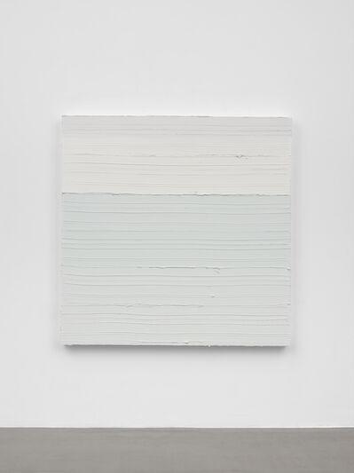 Jason Martin, 'Untitled (Zinc white / Scheveningen blue)', 2018