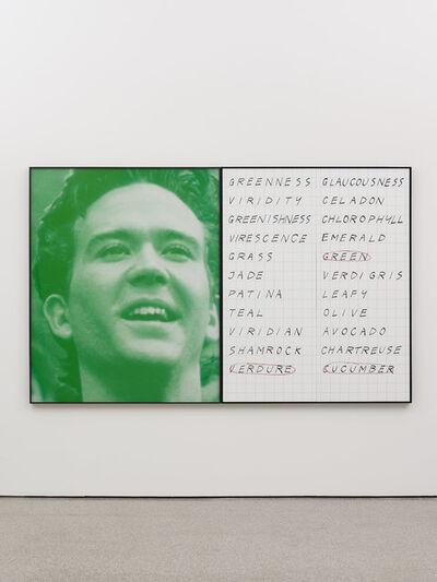 John Baldessari, 'Prima Facie (Fourth State): Green and Et Cetera', 2005