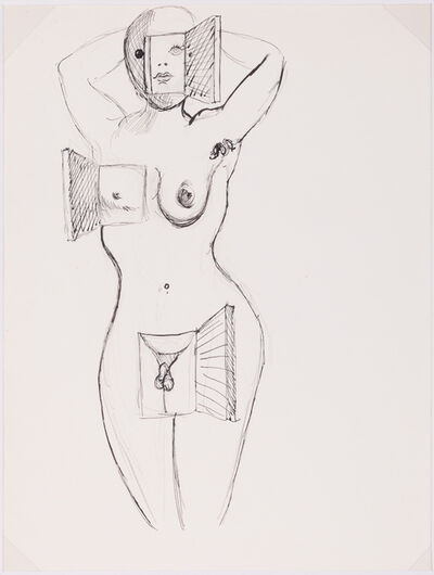 Salvador Dalí, 'Nu debout aux fenêtres', 1937