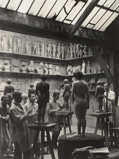Brassaï, 'L'Academie Julian, rue du Dragon, 6e, Paris (Academy Julian, Rue du Dragon, Sixth Arrondissement, Paris)', ca. 1931-1932