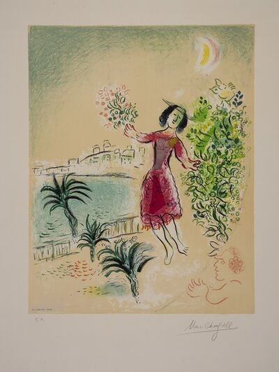 Marc Chagall, 'Bay of Nice (Sorlier Poster 124)', 1970