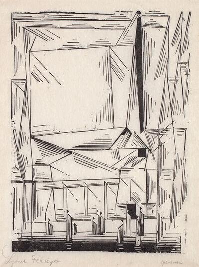Lyonel Feininger, 'Gelmeroda, from Meistermappe des Staatlichen Bauhauses (Masters' Portfolio of the Staatliches Bauhaus)', 1920