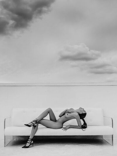 Russell James, 'Keir Reclined Miami Rooftop', 2014