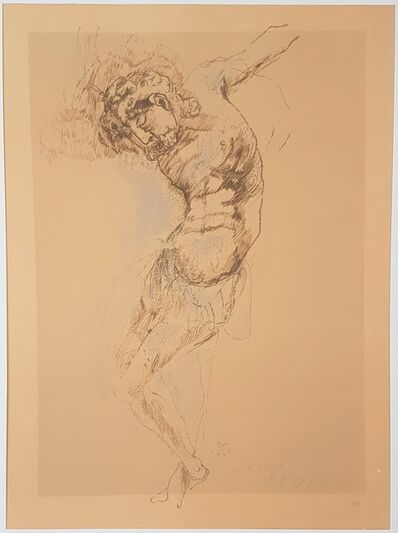 """Marino Marini, 'Christ - From """"A Suite of Sixty-three Re-creations of Drawings and Sketches in Many Mediums"""" ', 1968"""