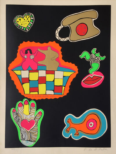 Niki de Saint Phalle, 'Nana Power (I Love You / In a Bath with You)', 1970