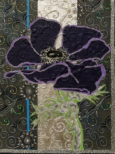 Robert Kushner, 'Dark Purple Anemone Night Sky ', 2018
