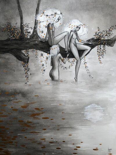 June Leeloo, 'Persephone et les nymphes au bain', 2019