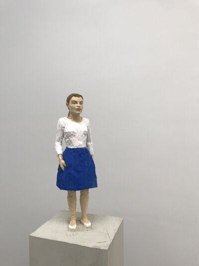 Stephan Balkenhol, 'Frau mit blauem Rock', 2019
