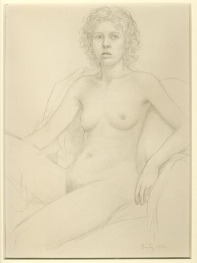 William Bailey, 'Female Nude / Curly Hair', 1976
