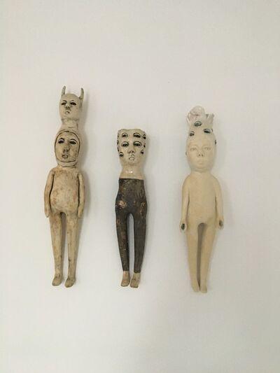 Ashley Benton, 'Ceramic wall hanging sculptures: 'Seek & friends'', 2020