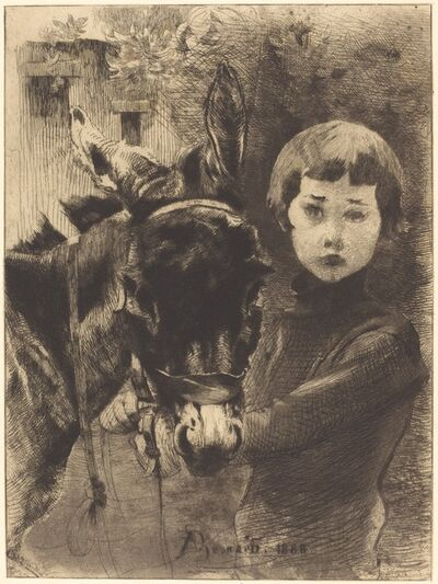Albert Besnard, 'Robert Besnard and His Donkey (Robert Besnard et son ane)', 1888