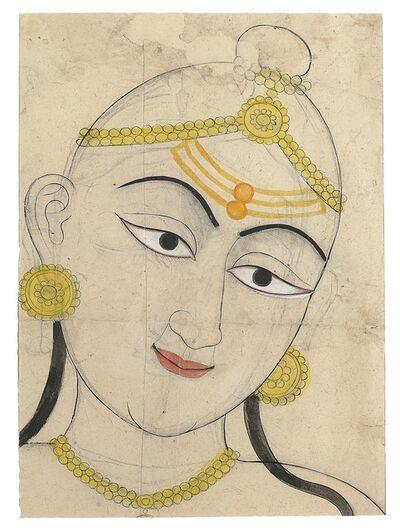 Sahib Ram, 'A Colored Drawing of Shaivite Devotee', 18th century