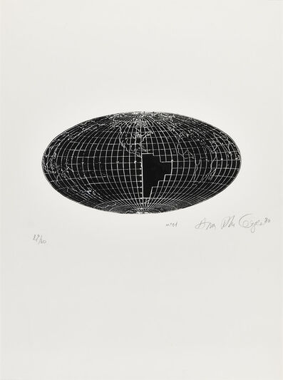 Anna Bella Geiger, 'Local da ação N° 1', 1980