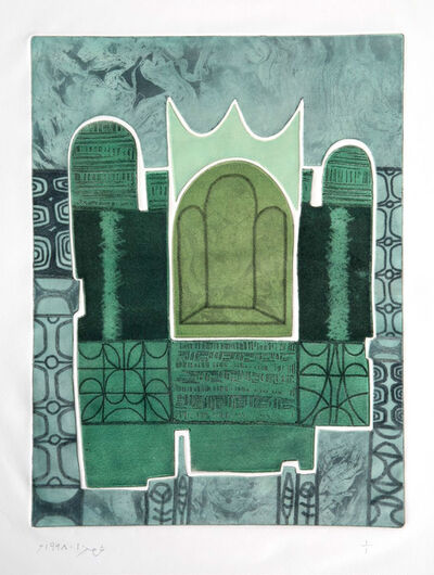 Anwar Jalal Shemza, 'Green Window', 1968